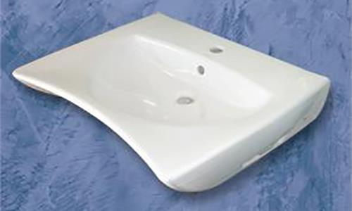 Lavabo per disabili in ceramica by Goman serie Open.