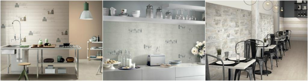 Rivestimenti per cucina e living serie Morning, Evening e Urban